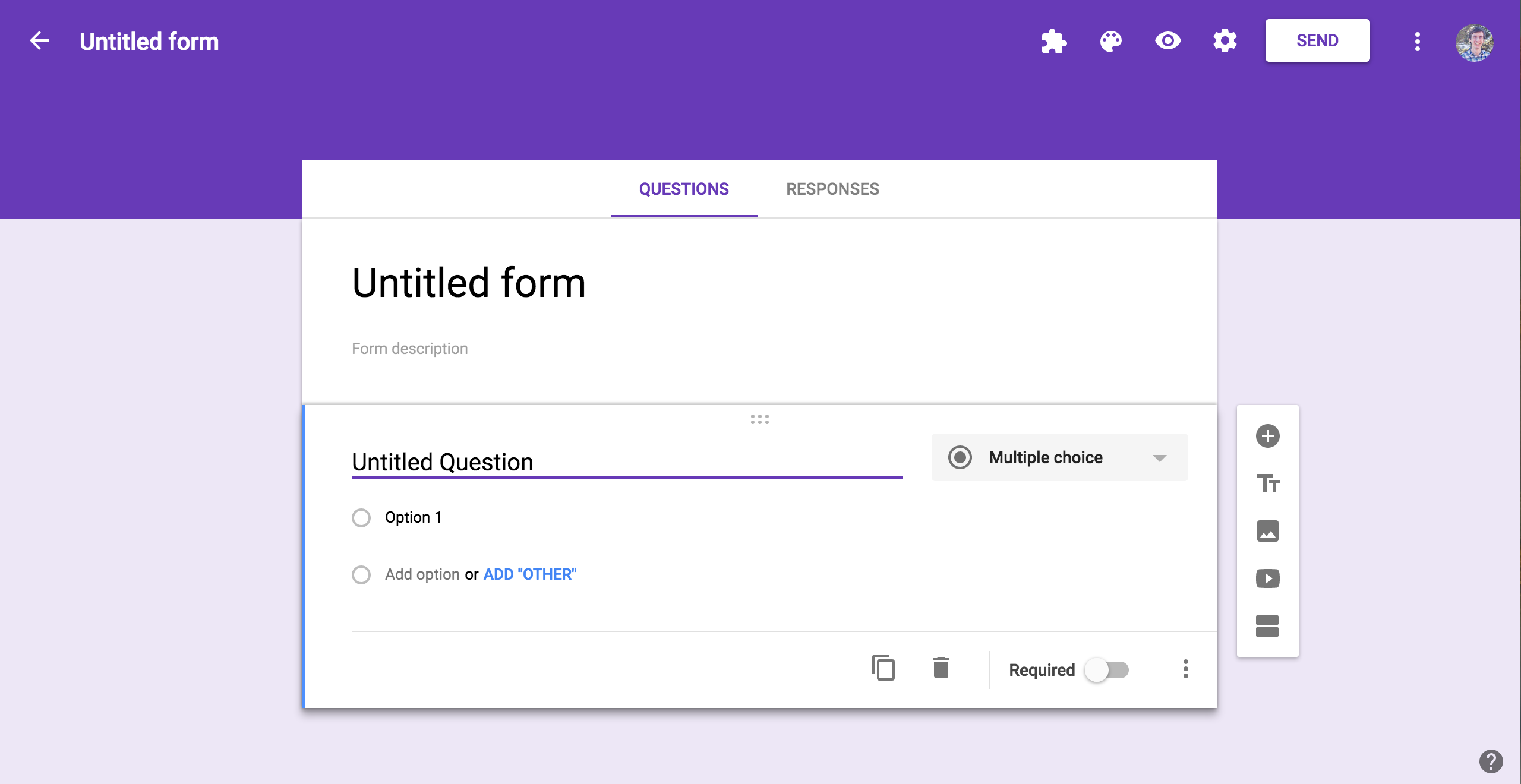 google forms example