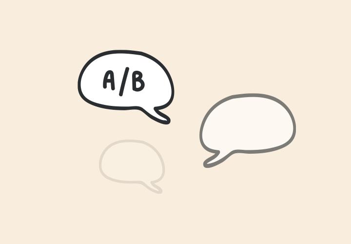 A B testing user feedback